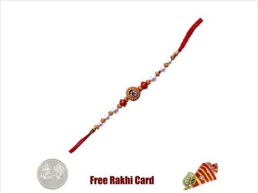 Mauli Rudraksh Red Beads Rakhi