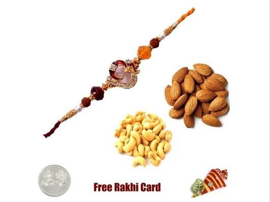 OM Rakhi with  Almonds and Cashews