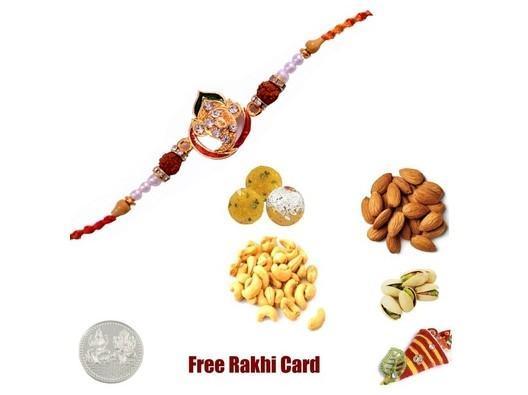 Ganesh Rakhi & Boondi Ladoo with Assorted Dryfruits
