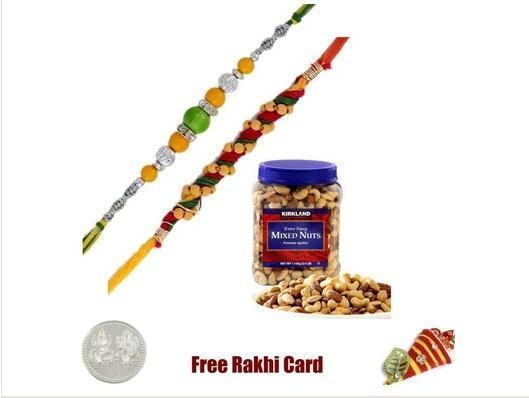 2 Rakhis Kirkland Mixed Nut Jar
