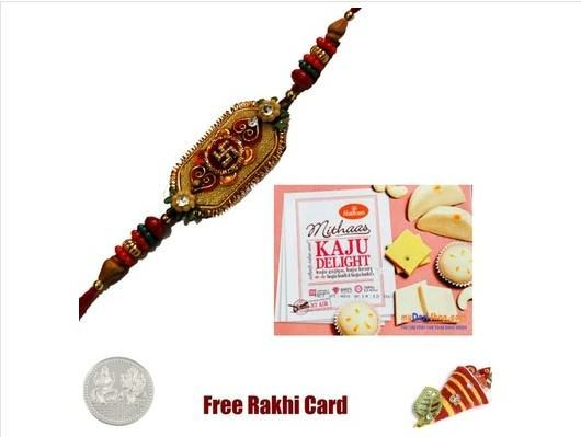 1 Rakhi with Haldiram Kaju Delight