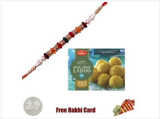 1 Rakhi with Haldiram Motichoor Ladoo