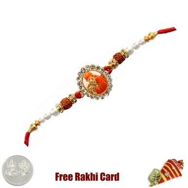 Jewelled Sai Baba Rakhi with Free Silver Coin