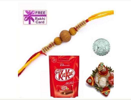 Stone Rakhi, with Kitkat Minis Chocolate