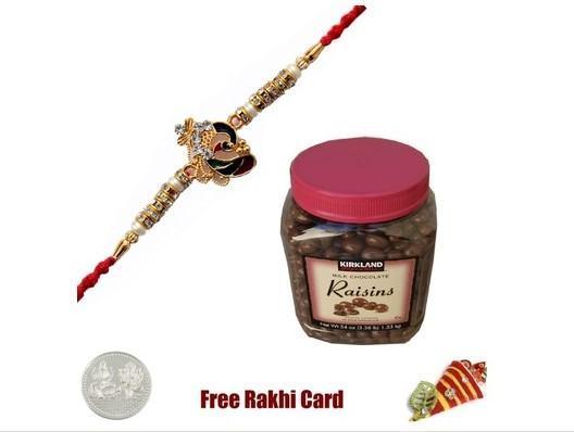 Beautiful Rakhi with Kirkland Signature Milk Chocolate Raisins
