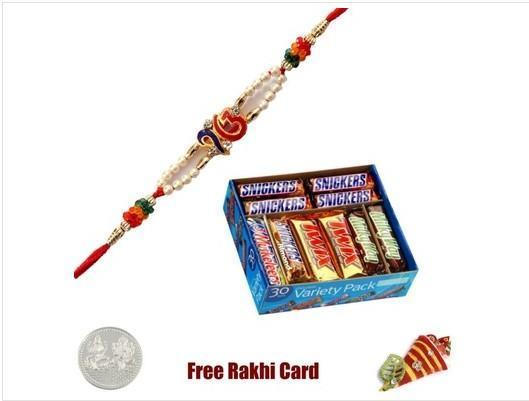 Single Rakhi with Mars Chocolate Variety Pack - 30 counts