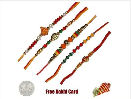 Five Mauli Rakhi Set