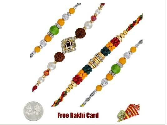 4 Fancy Rakhi Set