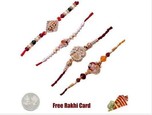 4 Religious Rakhi Set