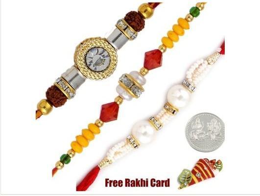 Three Fancy Rakhi Set