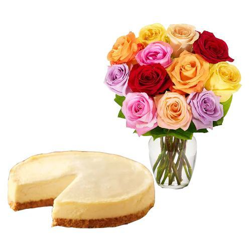 12 Mix Roses with Cheesecake