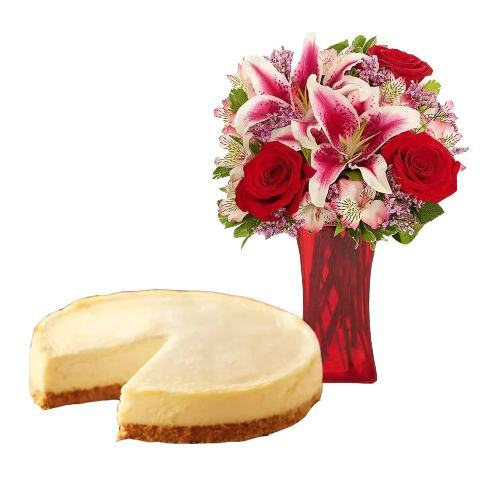 Cheesecake with Mix Bouquet