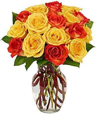 Yellow & Orange Rose Bouquet