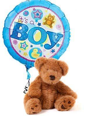 It's a Boy Bear and Balloon