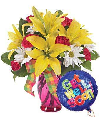 Sunny & Bright Get Well Soon Bouquet