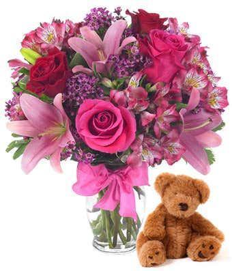 Rose & Lily Celebration with Bear