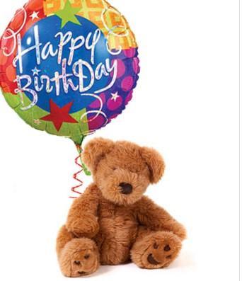 Teddy Bear n Birthday Balloon