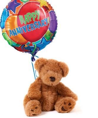 Teddy Bear n Anniversary Balloon