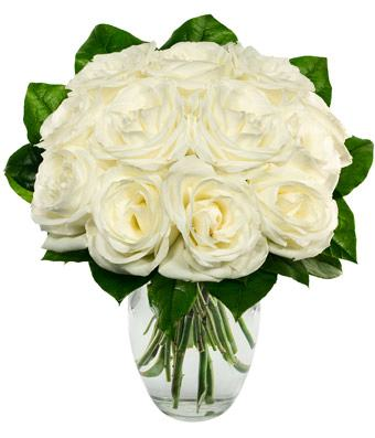 White Roses Bouuqet